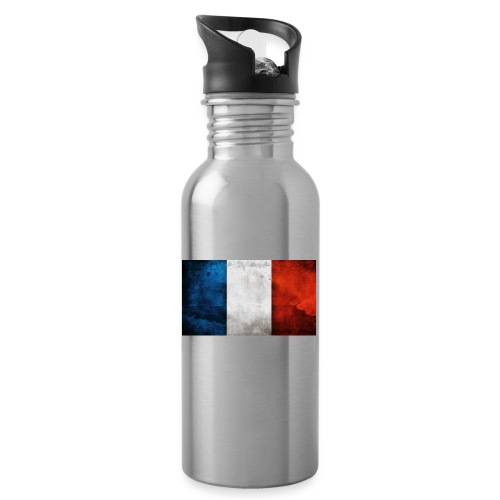 France Flag - Water bottle with straw
