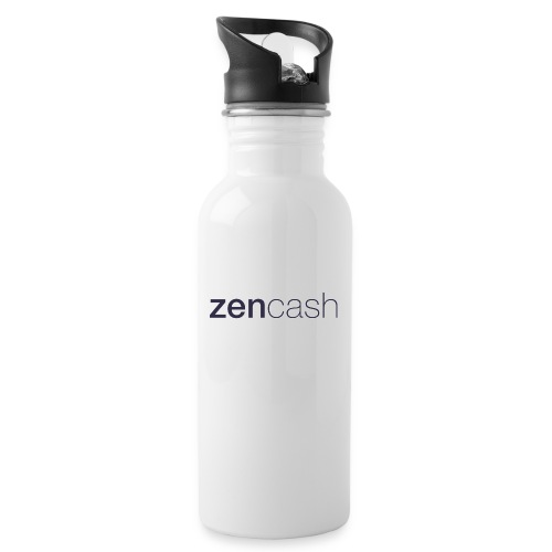 ZenCash CMYK_Horiz - Full - Water bottle with straw