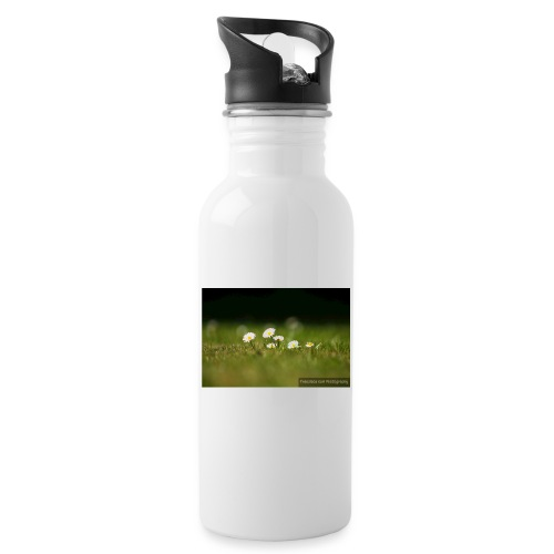 Daisies - Water bottle with straw