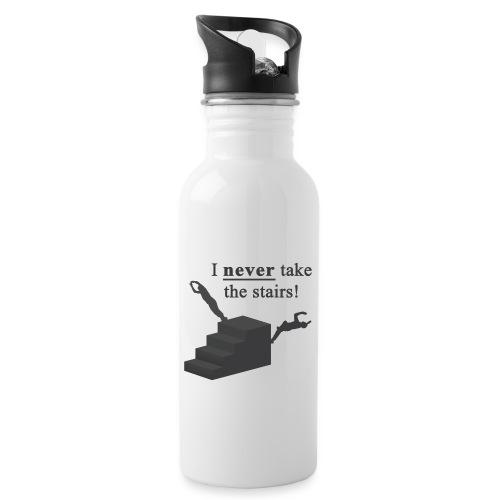I Never Take The Stairs Grey Parkour - Drikkeflaske med integreret sugerør