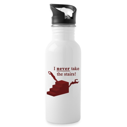 I Never Take The Stairs Red Parkour - Drikkeflaske med integreret sugerør