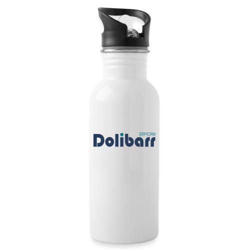 Dolibarr Logo new blue - Botella cantimplora con pajita integrada