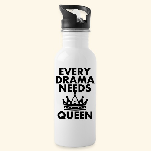 EVERY DRAMA black png - Water bottle with straw