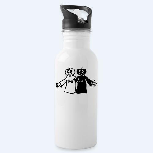 IMI EXI - Trinkflasche mit integriertem Trinkhalm