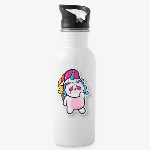 Funny Unicorn - Water bottle with straw