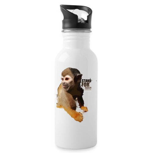 Stand for me - Water bottle with straw