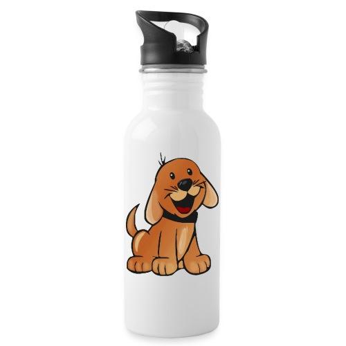 cartoon dog - Borraccia con cannuccia integrata