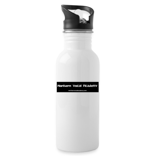 Northern Vocal Academy Logo - Water bottle with straw