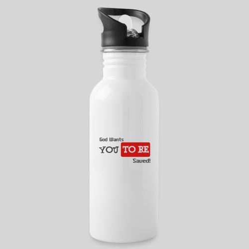 God wants you to be saved Johannes 3,16 - Trinkflasche mit integriertem Trinkhalm
