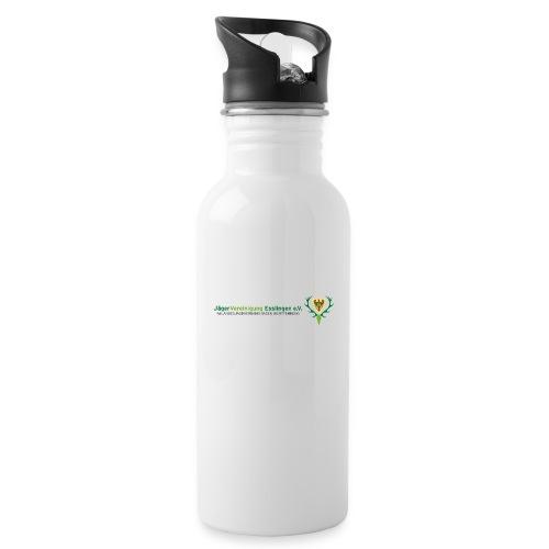 Logo JV - Trinkflasche mit integriertem Trinkhalm