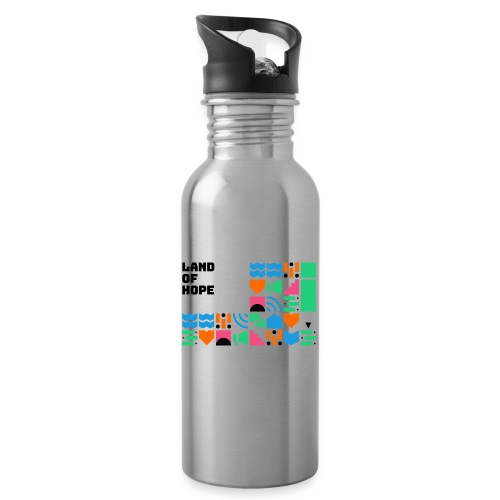 Land of Hope - Water bottle with straw