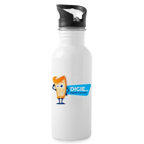 Digie.be - Drinkfles met geïntegreerd rietje