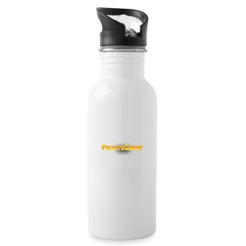 PacorroGamer logotipo de f - Botella cantimplora con pajita integrada