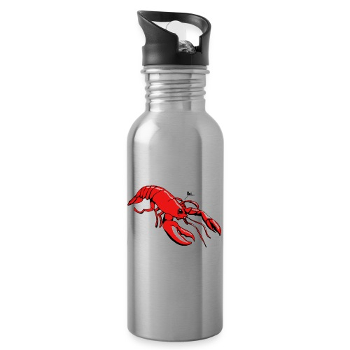 Lobster - Water bottle with straw