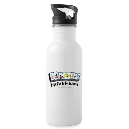 #kremsbleibtdaham - Trinkflasche mit integriertem Trinkhalm