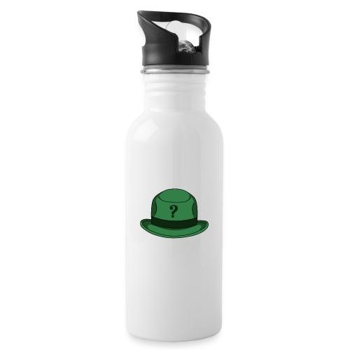 Grüner Rätsel Hut Riddler - Trinkflasche mit integriertem Trinkhalm