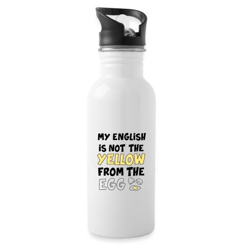 Schlechtes Englisch Witz Typografie - Trinkflasche mit integriertem Trinkhalm