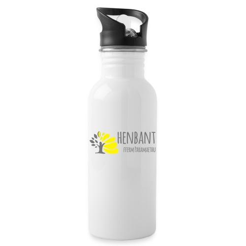 henbant logo - Water bottle with straw