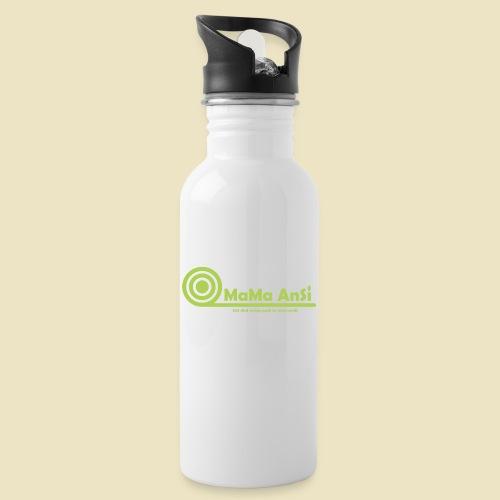 MaMa AnSi G logo - Drikkeflaske med integreret sugerør