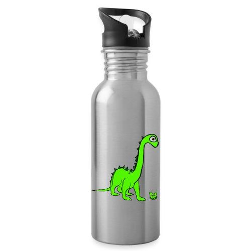 dinosauro - Borraccia con cannuccia integrata