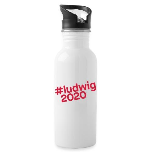 #ludwig2020 - Trinkflasche mit integriertem Trinkhalm
