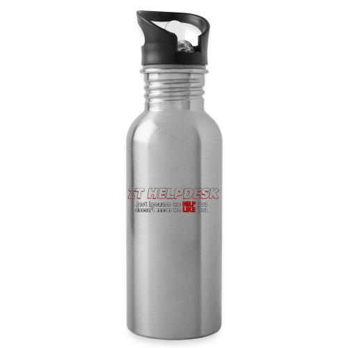 I.T. HelpDesk - Water bottle with straw