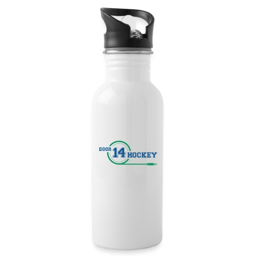 D14 HOCKEY LOGO - Water bottle with straw