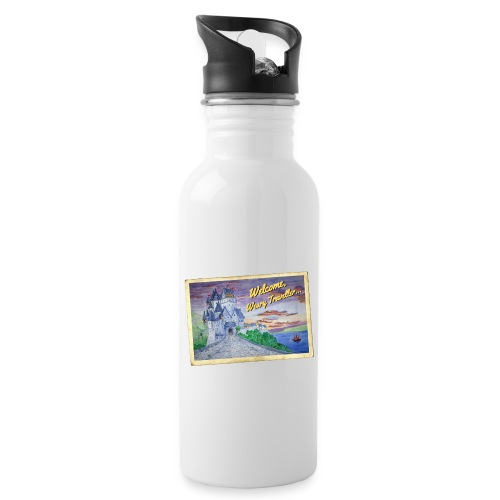 Travellers Guide - Water bottle with straw