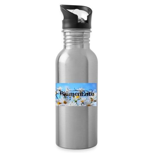 BlumenEnte - Trinkflasche mit integriertem Trinkhalm
