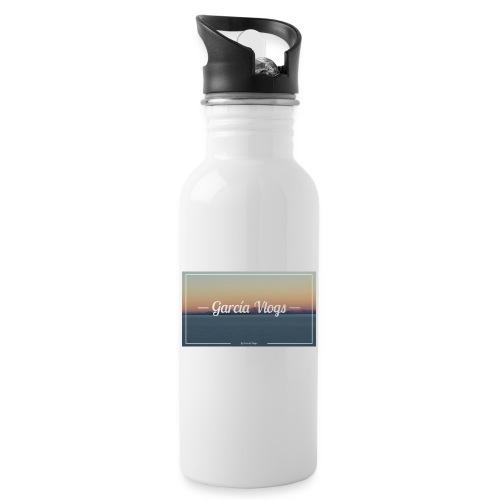 Garcíavlogs - Botella cantimplora con pajita integrada