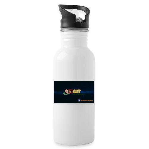 OhrBit Logo - Trinkflasche mit integriertem Trinkhalm