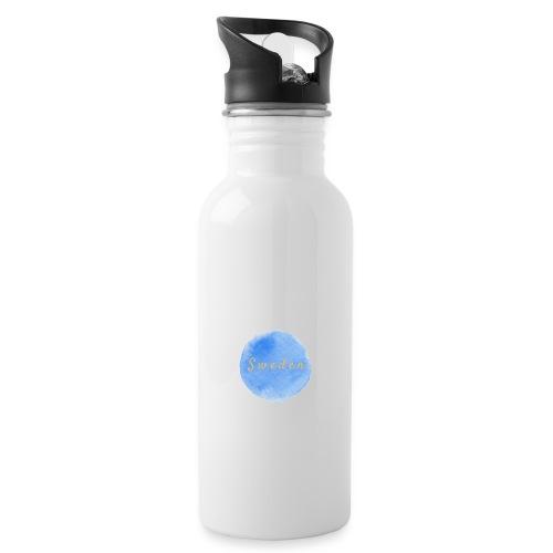 sweden - Vattenflaska med integrerat sugrör