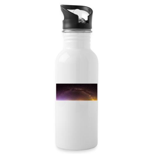 Milchstraße Panorama - Trinkflasche mit integriertem Trinkhalm