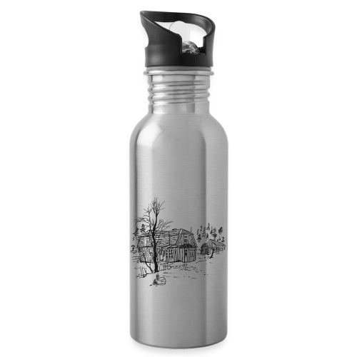 Countryside - Water bottle with straw