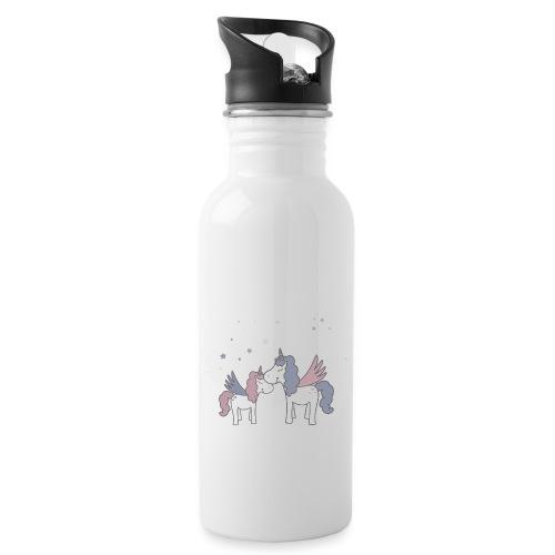 Little Unicorn - Trinkflasche mit integriertem Trinkhalm