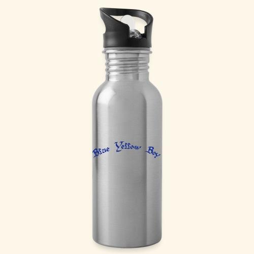 Blue Yellow Boy gebogen - Trinkflasche mit integriertem Trinkhalm