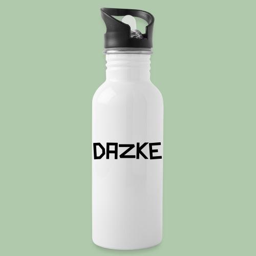 dazke_bunt - Trinkflasche mit integriertem Trinkhalm
