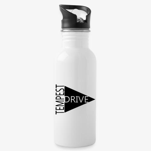 Komprimeret logo - Drikkeflaske med integreret sugerør