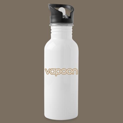 Vapoon Logo simpel 2 Farb - Trinkflasche mit integriertem Trinkhalm