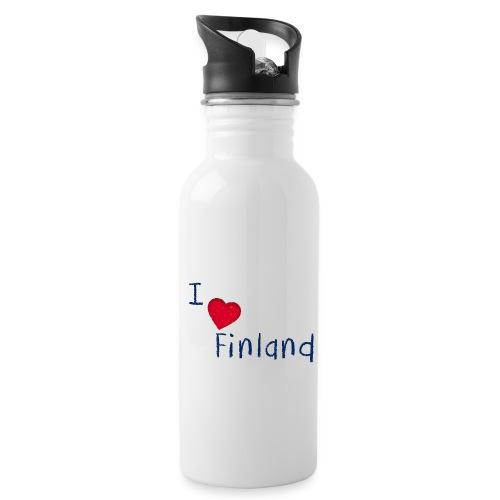 I Love Finland - Juomapullo, jossa pilli