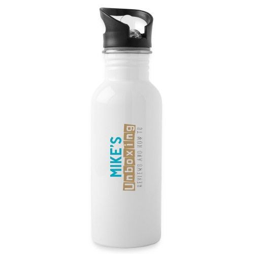 Mikesunboxing Classic Logo - Water bottle with straw