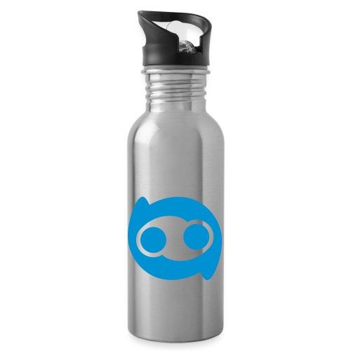Justlo Smiley - Trinkflasche mit integriertem Trinkhalm