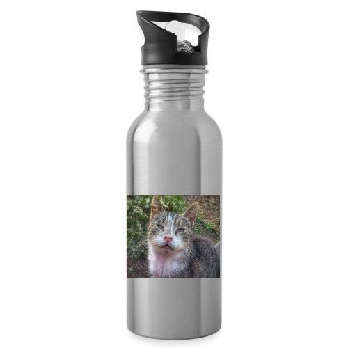 Katze Max - Trinkflasche mit integriertem Trinkhalm