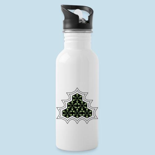 Stern - Trinkflasche mit integriertem Trinkhalm
