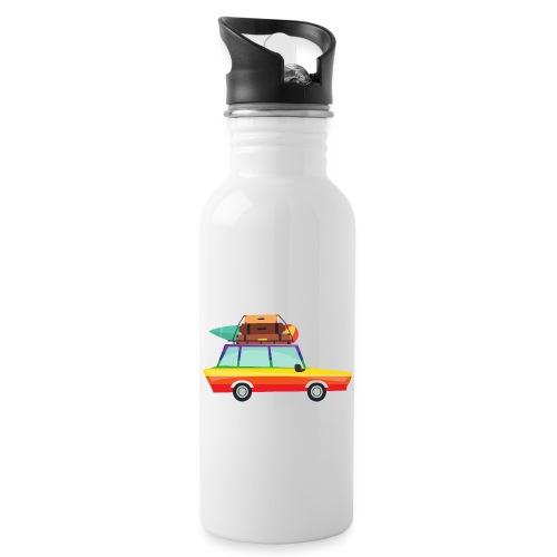 Gay Van | LGBT | Pride - Trinkflasche mit integriertem Trinkhalm