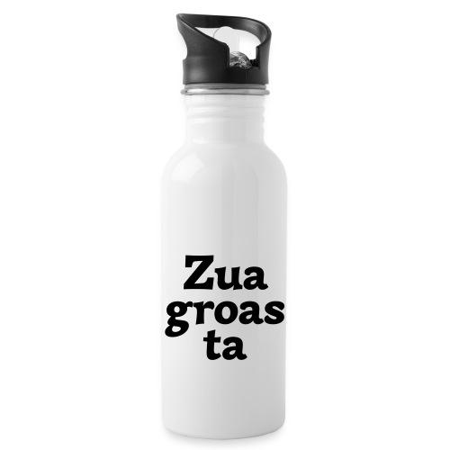 Zuagroasta - Trinkflasche mit integriertem Trinkhalm
