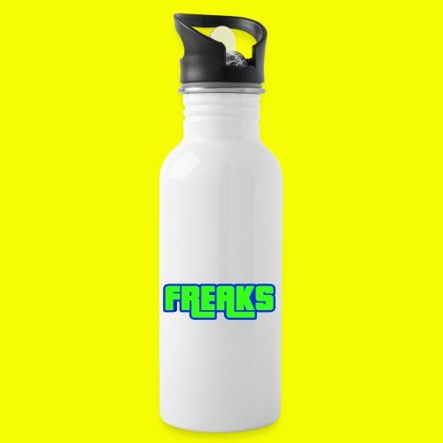 YOU FREAKS - Trinkflasche mit integriertem Trinkhalm