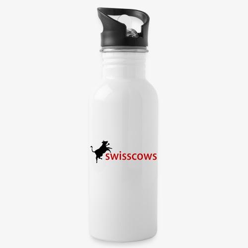 Swisscows - Trinkflasche mit integriertem Trinkhalm