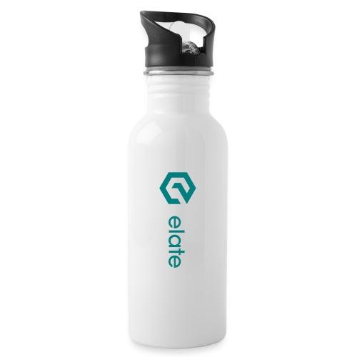 Elate logo horisontal - Drikkeflaske med integrert sugerør
