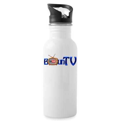 BounTV Logo - Trinkflasche mit integriertem Trinkhalm